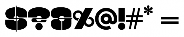 Kenwyn Single Dot Stencil Font OTHER CHARS