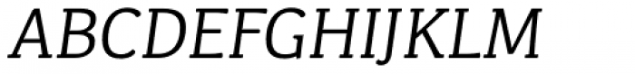 Kefa II Pro Book Italic Font UPPERCASE