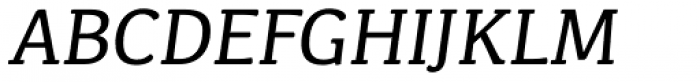 Kefa II Pro Italic Font UPPERCASE