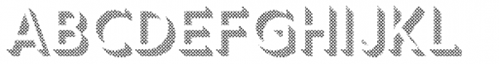 Keith Dot Down Font UPPERCASE
