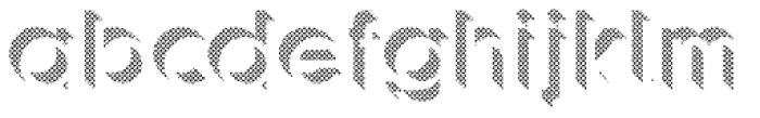 Keith Dot Up Font LOWERCASE