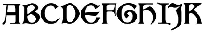 Kelmscott Font UPPERCASE