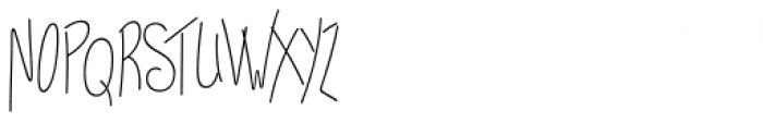 Kelpie Monoline Font UPPERCASE