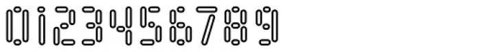 Kempt Condensed Outline Semi Bold Font OTHER CHARS