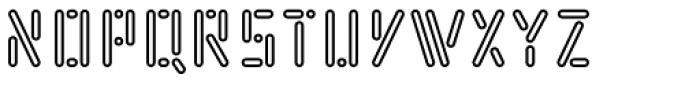Kempt Condensed Outline Semi Bold Font UPPERCASE
