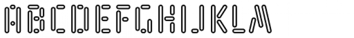 Kempt Condensed Outline Semi Bold Font LOWERCASE