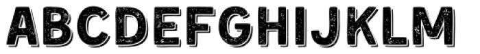 Kent 4F Printed Shadowed Font LOWERCASE