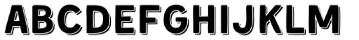 Kent 4F Shadowed Font LOWERCASE