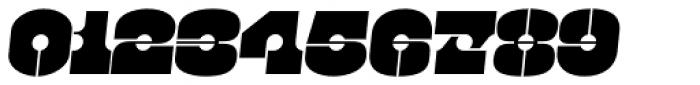 Kenwyn Single Dot Stencil Oblique Font OTHER CHARS