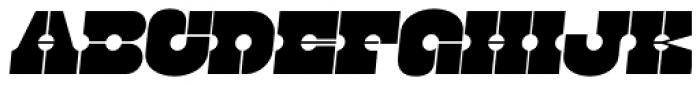 Kenwyn Single Dot Stencil Oblique Font UPPERCASE