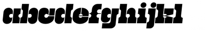 Kenwyn Single Dot Stencil Oblique Font LOWERCASE
