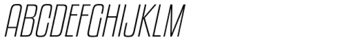 Kenyan Coffee ExtraLight Italic Font UPPERCASE