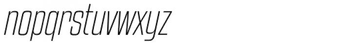 Kenyan Coffee ExtraLight Italic Font LOWERCASE