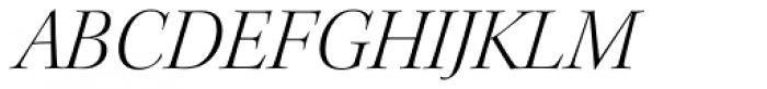 Kepler Std Display Light Italic Font UPPERCASE