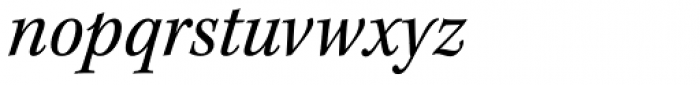 Kepler Std SemiCond Italic Font LOWERCASE