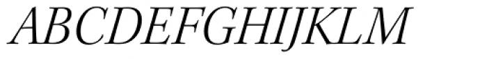Kepler Std SubHead Light Italic Font UPPERCASE