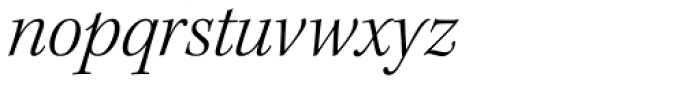 Kepler Std SubHead Light Italic Font LOWERCASE