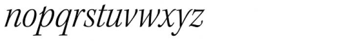 Kepler Std SubHead SemiCond Light Italic Font LOWERCASE