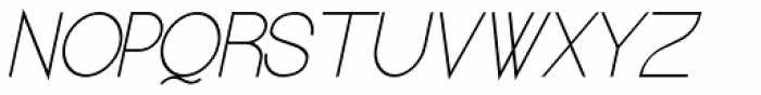 Kerater UltraLight Italic Font UPPERCASE