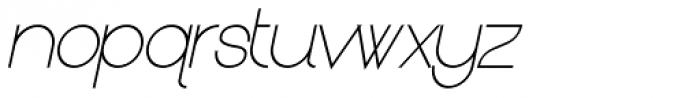 Kerater UltraLight Italic Font LOWERCASE