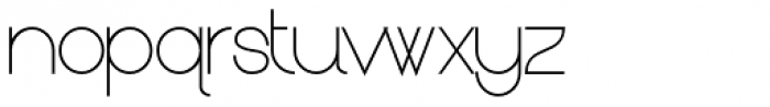 Kerater UltraLight Font LOWERCASE
