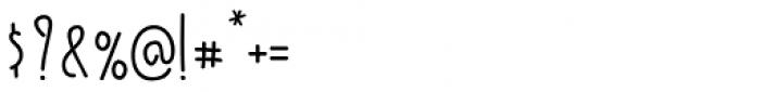 Kermel Serif Regular Font OTHER CHARS