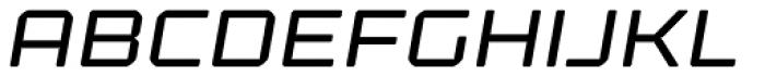 Kernel Oblique Font UPPERCASE