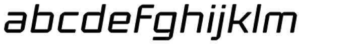 Kernel Oblique Font LOWERCASE