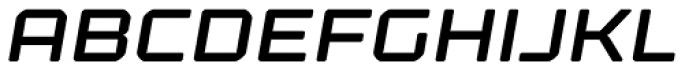 Kernel Semibold Oblique Font UPPERCASE