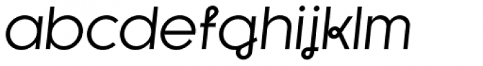 Kessel 105 Remix Regular Oblique Font LOWERCASE