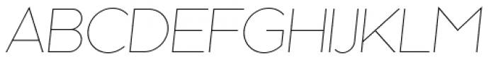 Kessel 105 Thin Oblique Font UPPERCASE