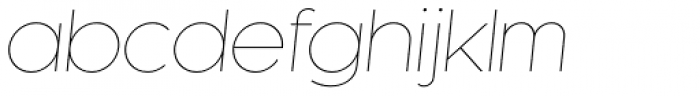 Kessel 105 Thin Oblique Font LOWERCASE