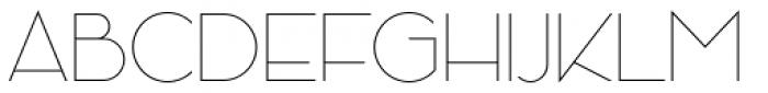 Kessel 205 Thin Font UPPERCASE