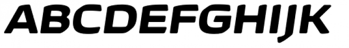 Kette Pro Ext Bold Italic Font UPPERCASE
