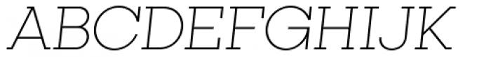 Kettering 105 Light Oblique Font UPPERCASE