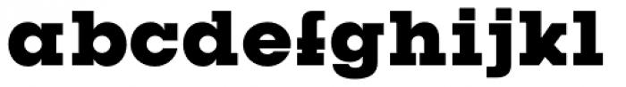 Kettering 205 Heavy Font LOWERCASE