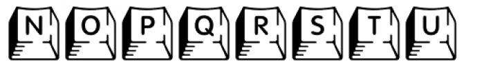 Keycaps Deluxe Font UPPERCASE