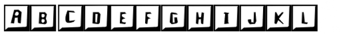 Keycaps Font UPPERCASE