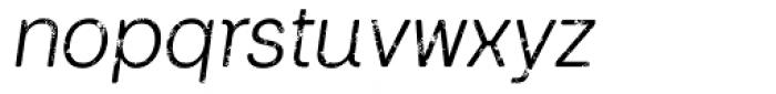 Keymer Block Regular Italic Font LOWERCASE