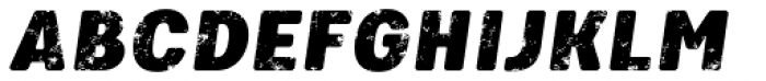 Keymer Block Ultra Italic Font UPPERCASE