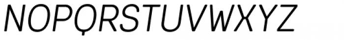 Keymer Radius Book Italic Font UPPERCASE