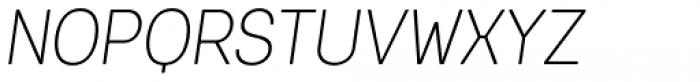 Keymer Radius Light Italic Font UPPERCASE