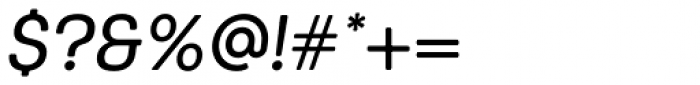 Keymer Radius Medium Italic Font OTHER CHARS