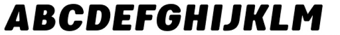 Keymer Radius Ultra Italic Font UPPERCASE