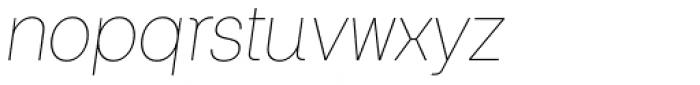 Keymer Thin Italic Font LOWERCASE