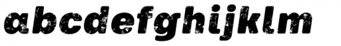 Keymer Thug Ultra Italic Font LOWERCASE