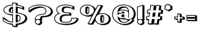Keynsia Shadowed Font OTHER CHARS