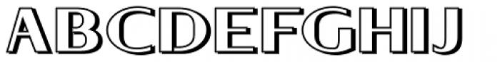 Keynsia Shadowed Font UPPERCASE