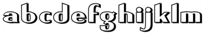 Keynsia Shadowed Font LOWERCASE