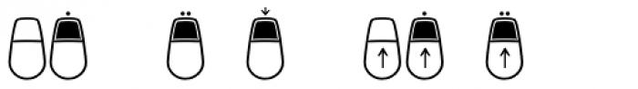 Keys Mouse Font UPPERCASE